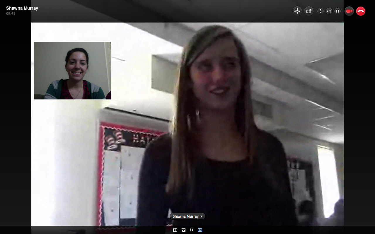 Skyping with Schools to tell them about PEP and Pakistan!